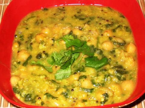 chana-palak curry