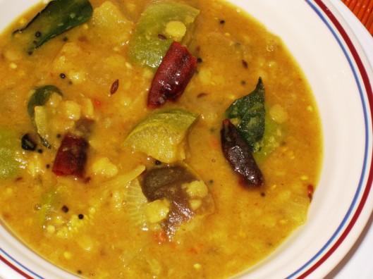 eggplant-tamarind soup