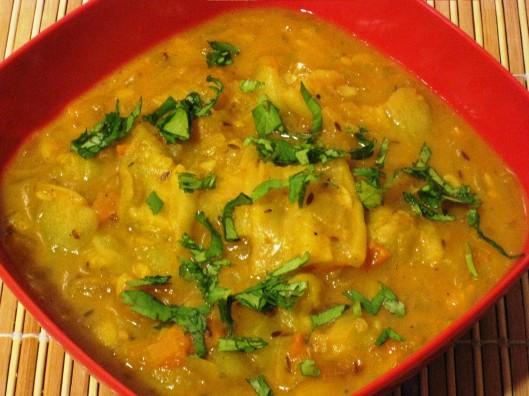 ridge-gourd masala