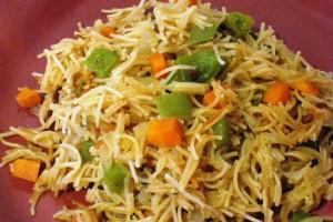 Vegetable Vermicelli Upma