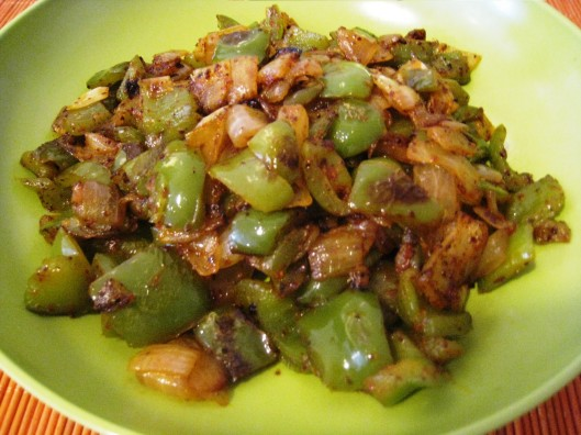 bell-pepper-onion fry