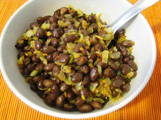 black beans curry