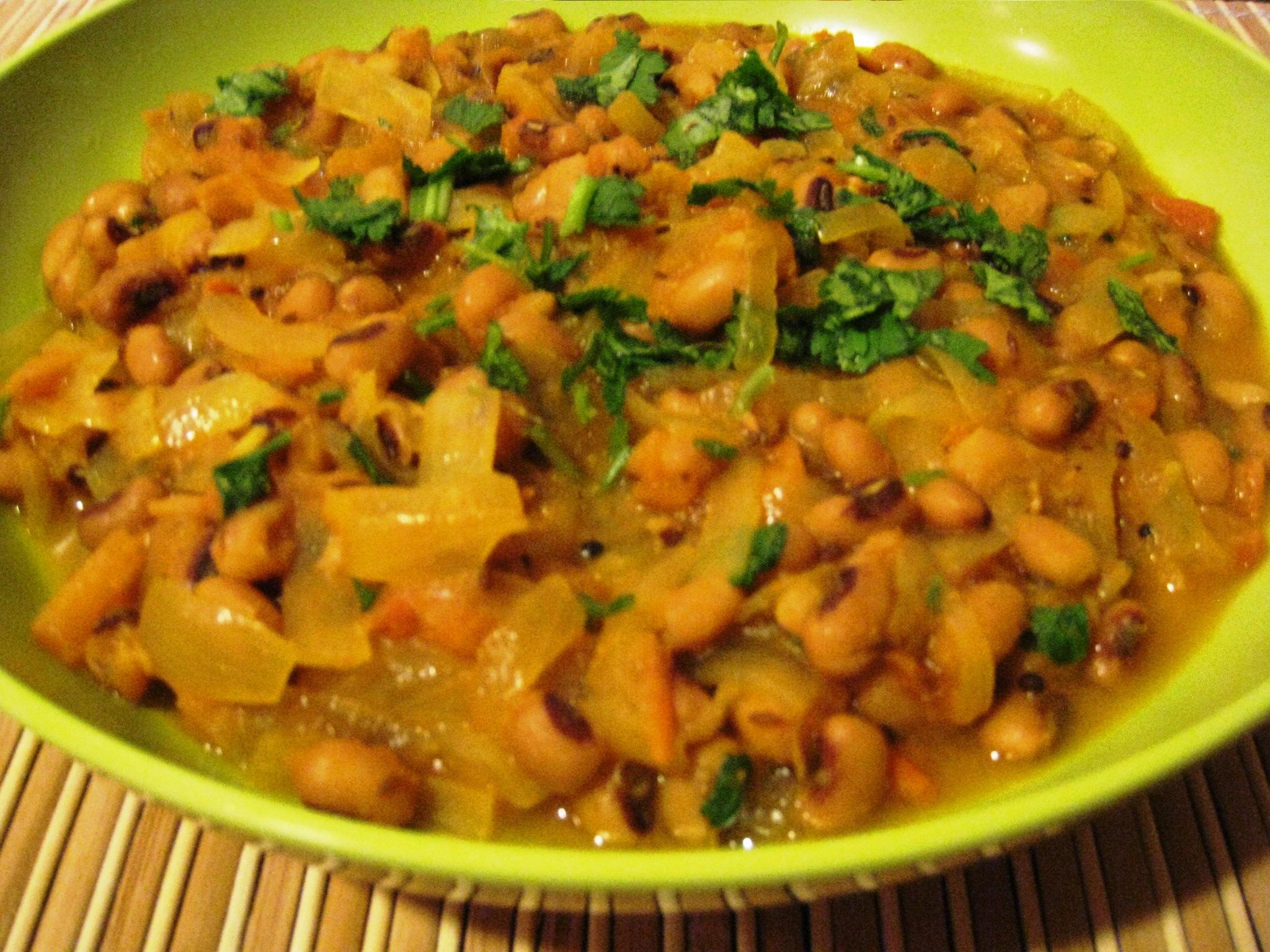 Black-Eyed Peas Curry   vegrecipes4u.com