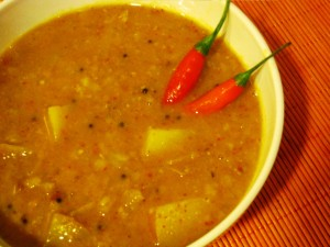cabbage-potato dal