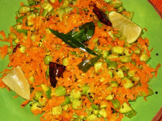 carrot-tindora curry