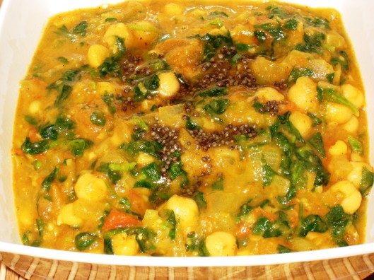 chana-methi curry