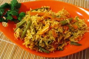 Curried Rice and Veggies
