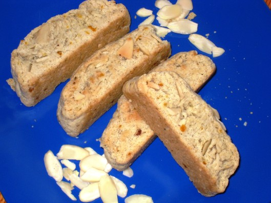 eggless almond biscotti