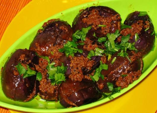 eggplant in tamarind sauce