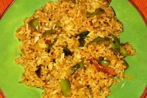 Eggplant-Onion Rice