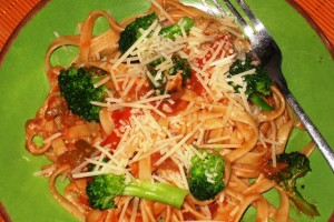 Fettuccine with Veggies
