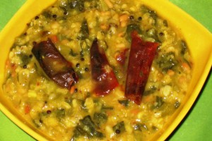 Mustard Greens-Moong Dal