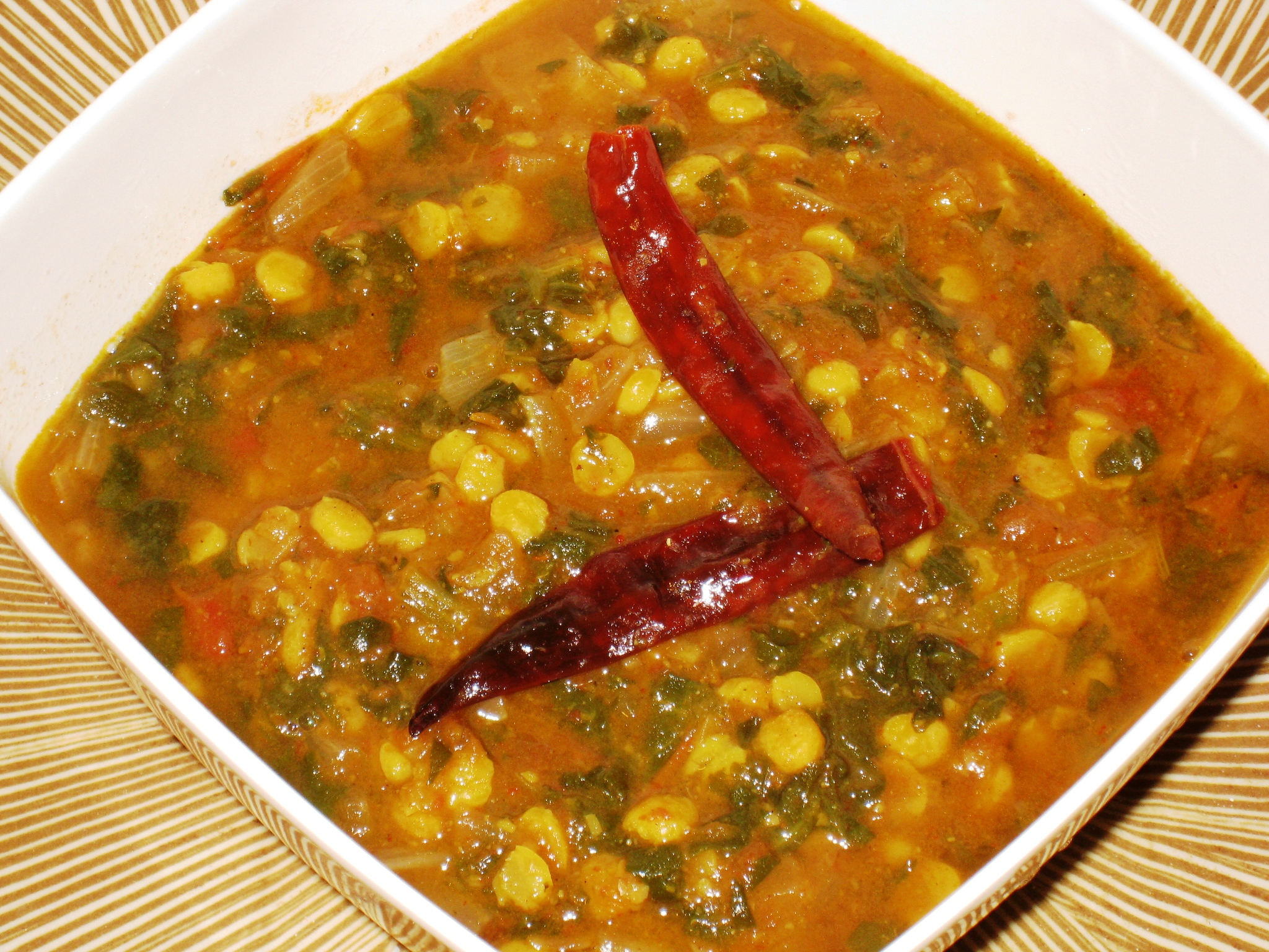 Palak-Dal Curry is a quick pressure-cooker recipe for a vegetarian ...