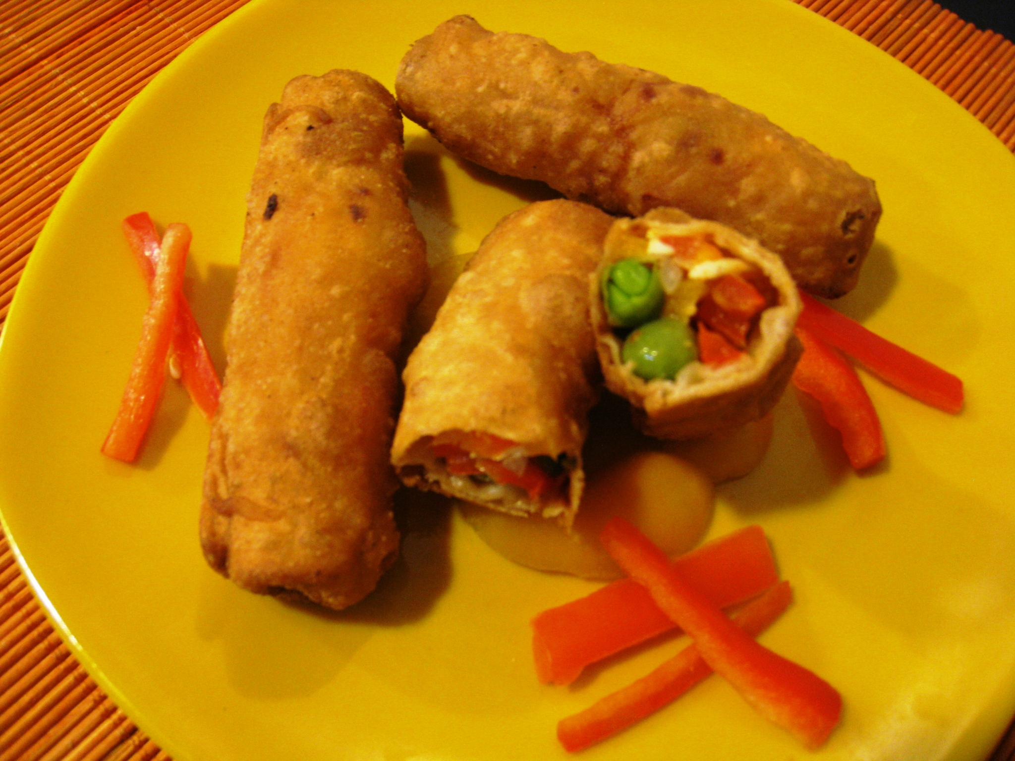 how to prepare veg spring roll