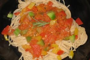 Pasta Tomato-Bell-Pepper Sauce