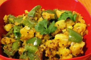 Potato Bell-Pepper Curry