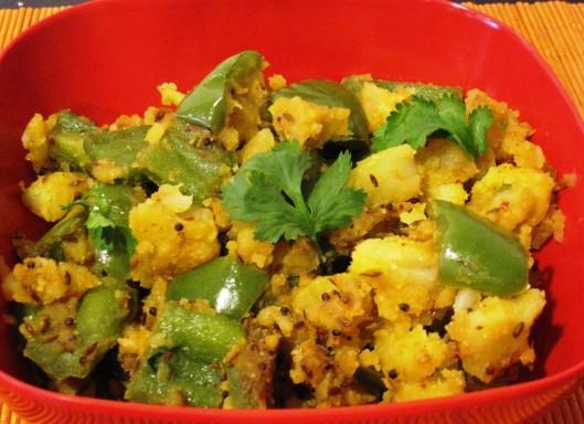 potato-bell-pepper curry