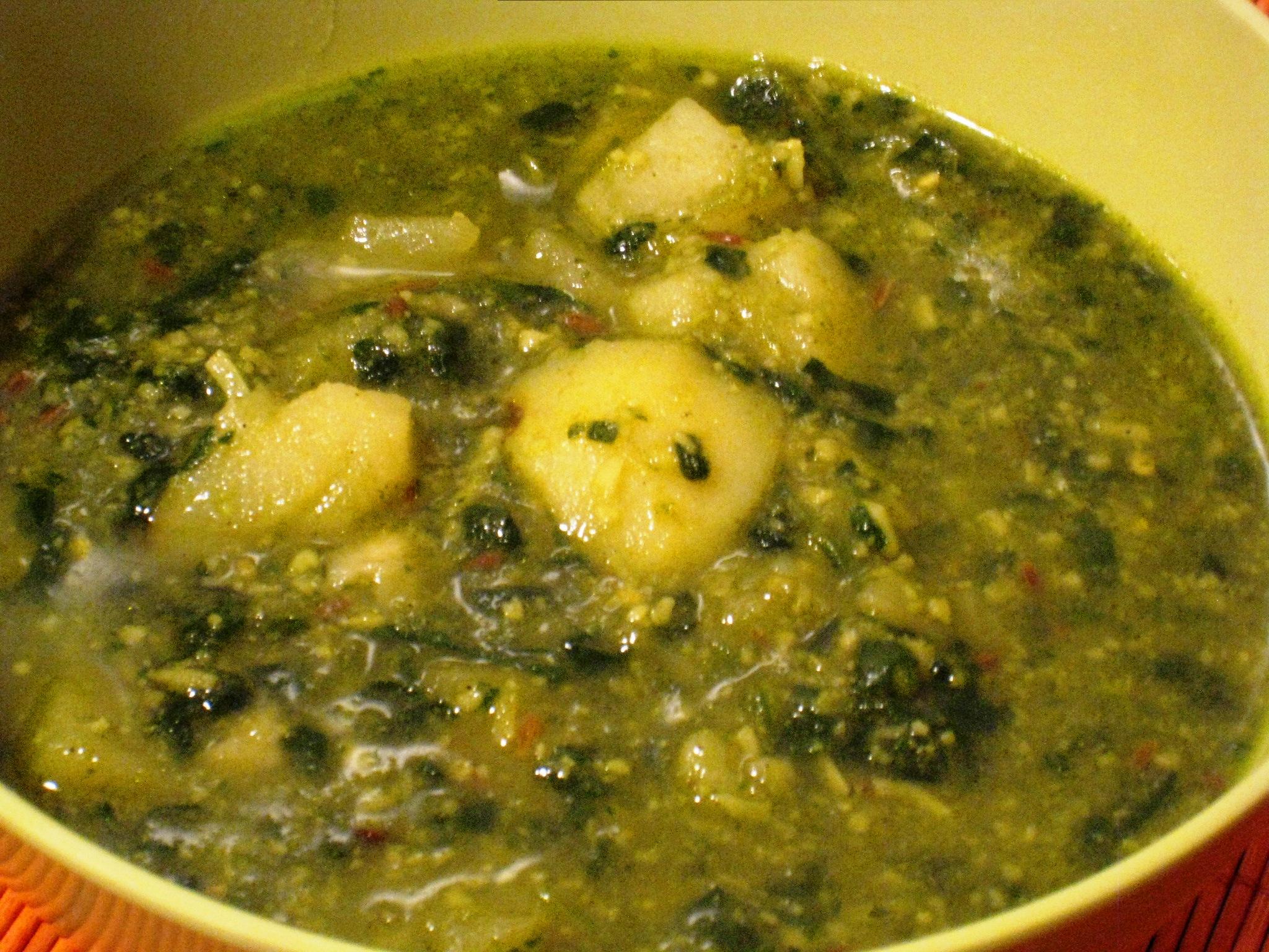 Potato spinach gravy vegrecipes4u potato spinach gravy forumfinder Image collections