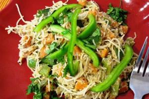 Sesame Rice Noodles