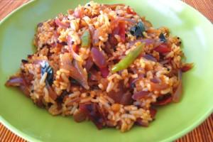 Tomato-Onion Rice