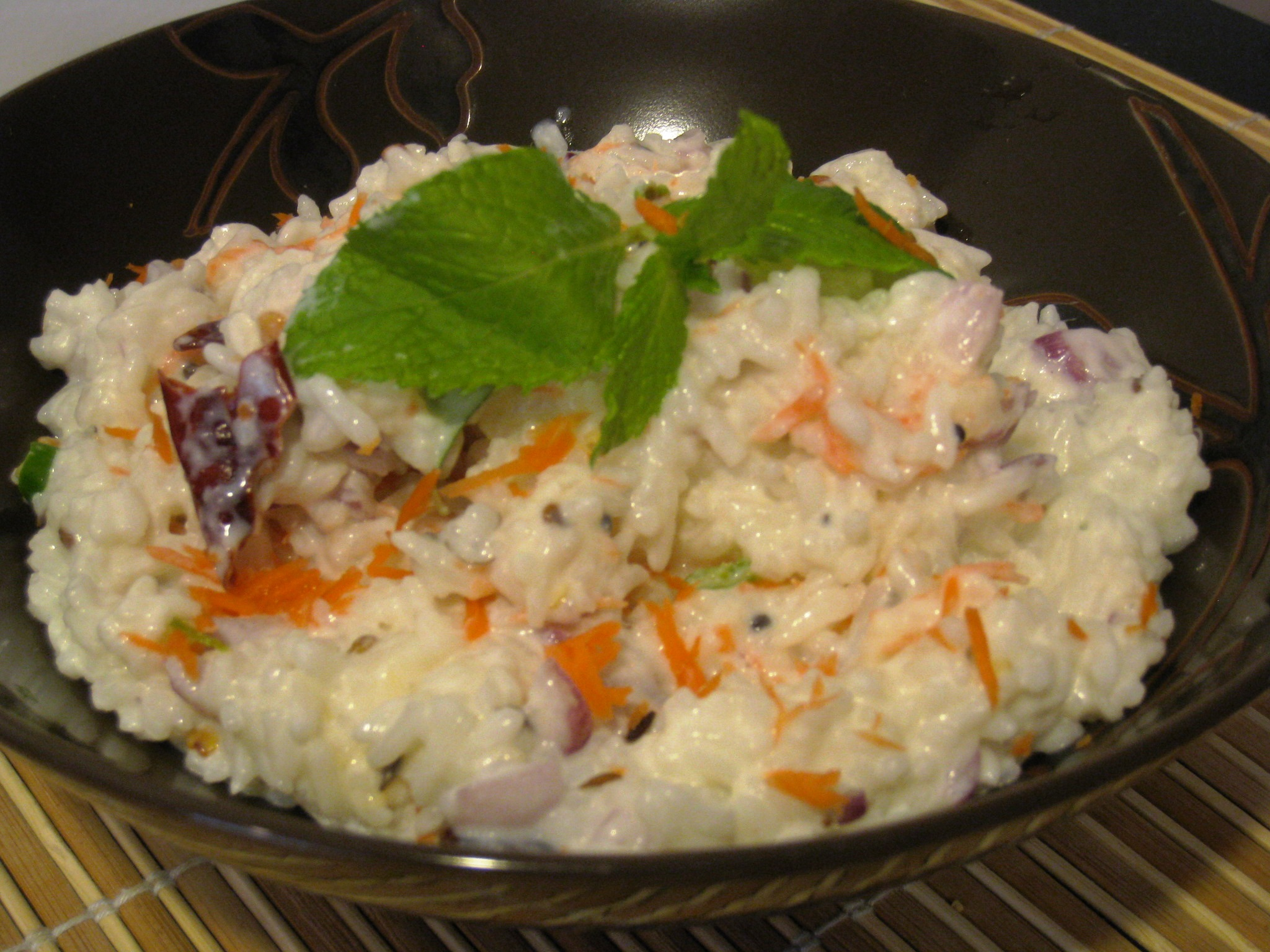 yogurt rice or curd rice as it s known in india is the easiest dish